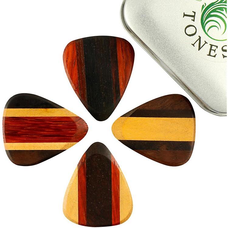 Timber TonesZone Tones Mixed Tin of 4 Guitar Picks