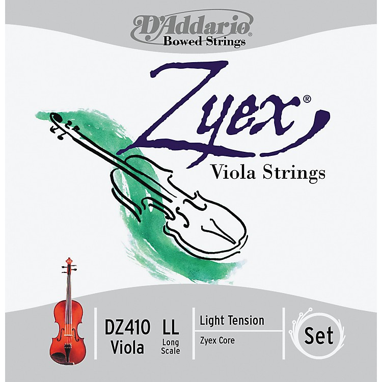 D'Addario Zyex 4/4 Viola String Set Long Scale