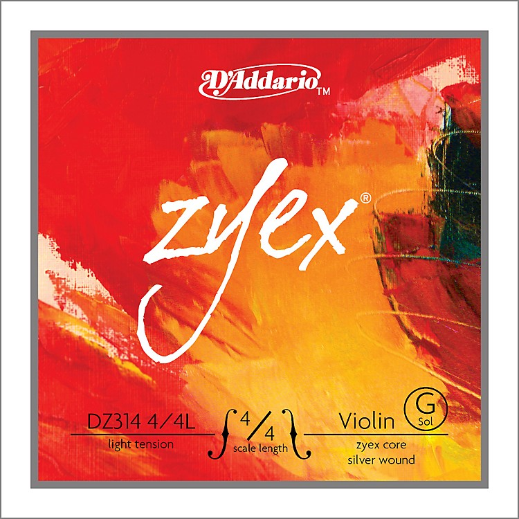 D'AddarioZyex 4/4 Violin String G Silver