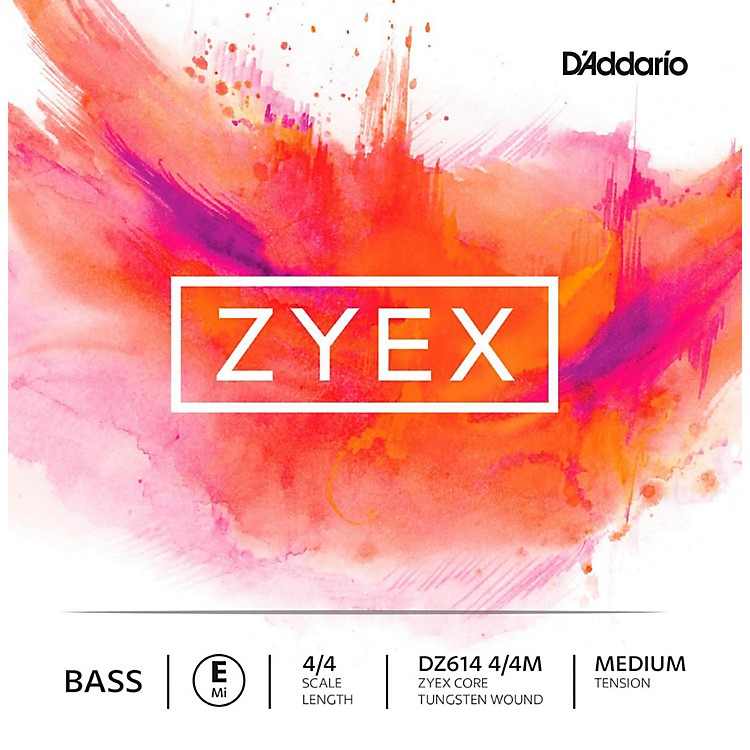 D'Addario Zyex Series Double Bass E String 4/4 Size Medium