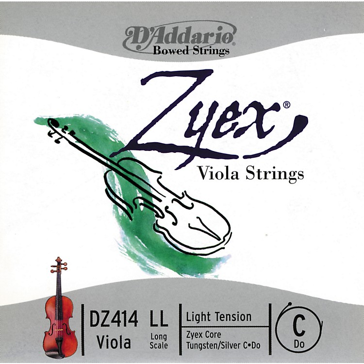 D'Addario Zyex Series Viola C String  16+ Long Scale Light