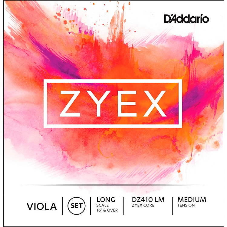 D'AddarioZyex Series Viola String Set16+ Long Scale Medium
