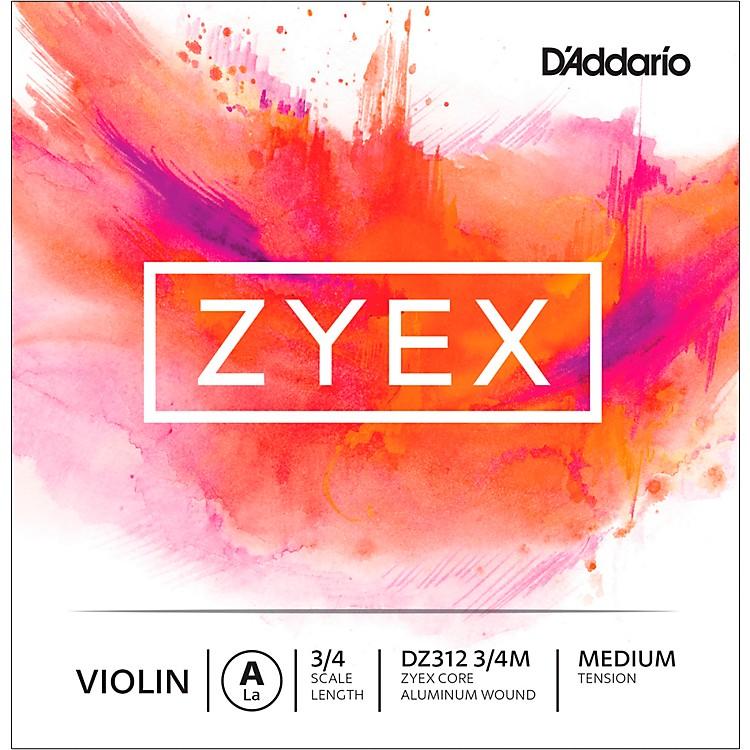 D'AddarioZyex Series Violin A String3/4 Size