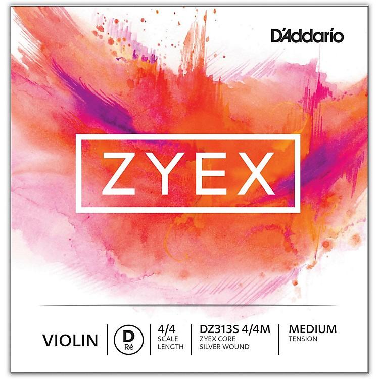 D'AddarioZyex Series Violin D String4/4 Size Medium Silver
