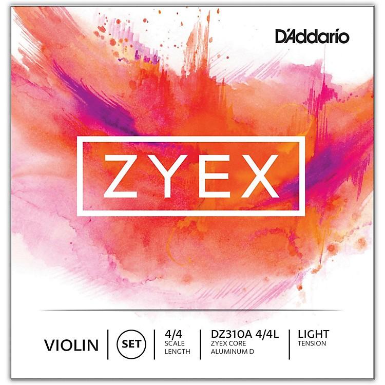 D'AddarioZyex Series Violin String Set4/4 Size Light, Aluminum D