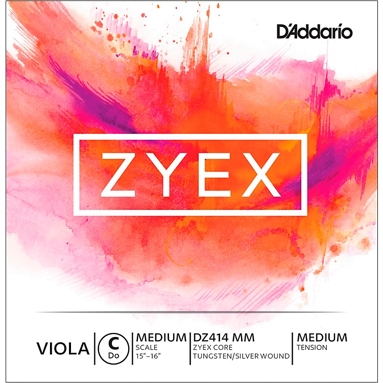 D'Addario Zyex Viola String G Medium Scale 4/4 Silver  Medium