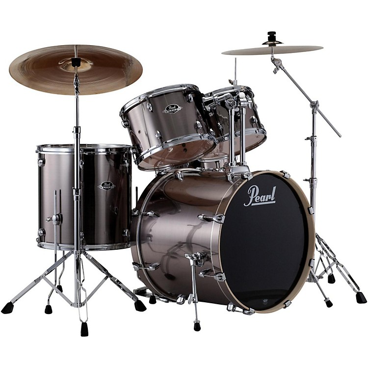 PearlePRO Powered by Export Acoustic Electric Standard DrumsetSmokey Chrome