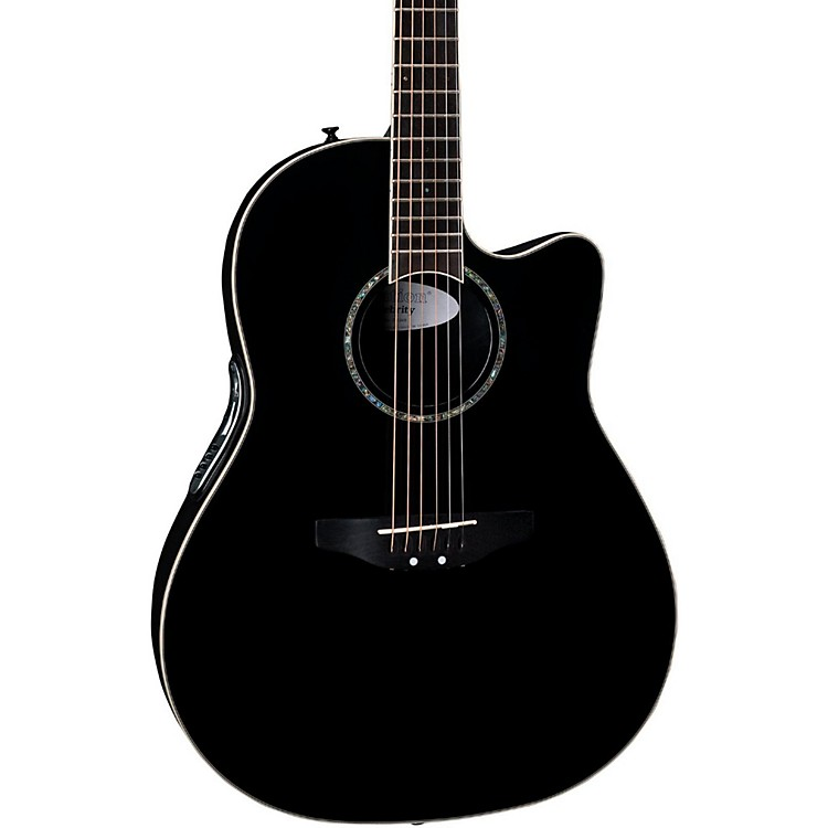 Ovation iDea Celebrity Acoustic-Electric Guitar with Built-In MP3 Recorder Black