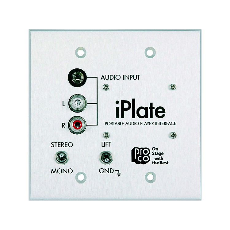 Pro CoiPlate Portable Audio Player Interface Wallplate