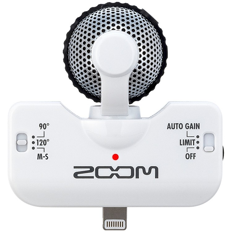 Zoom iQ5 Professional Stereo Microphone for iPhone White