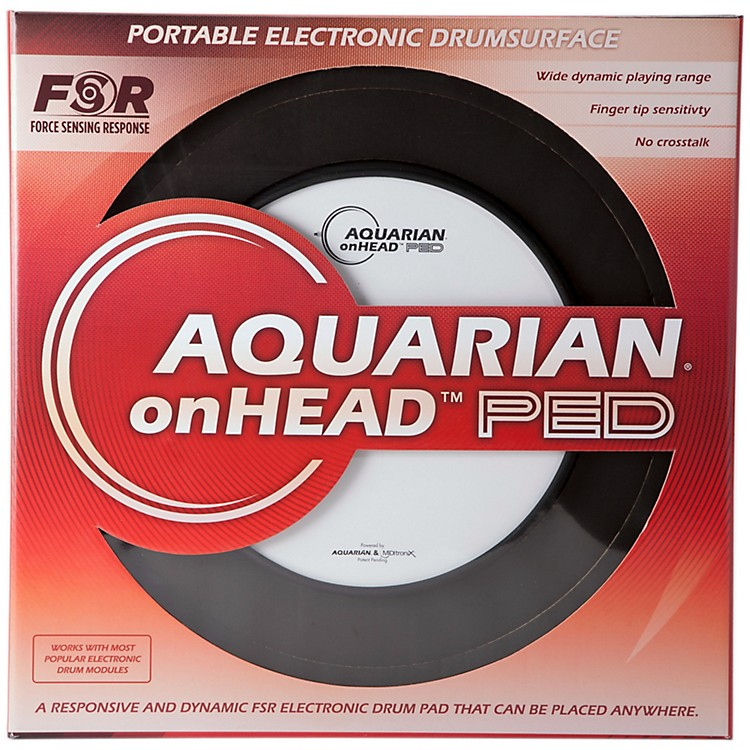 Aquarian onHEAD Portable Electronic Drumsurface 10 in.