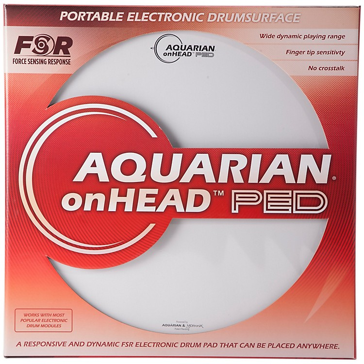 Aquarian onHEAD Portable Electronic Drumsurface 16 in.