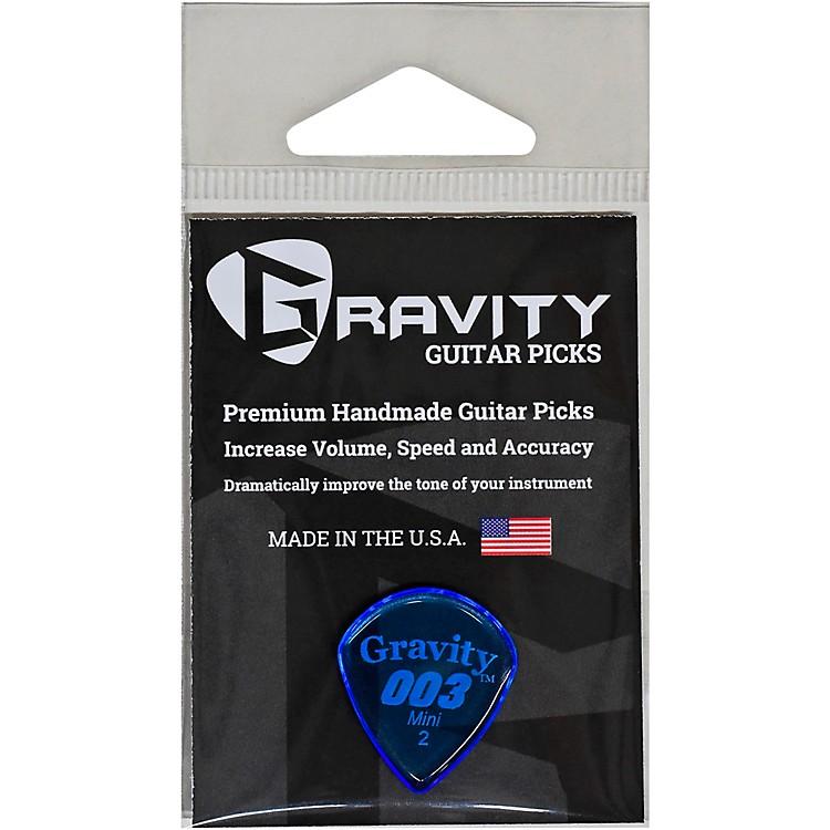 GRAVITY PICKS003 J3 Mini Polished Blue Guitar Picks2.0 mm