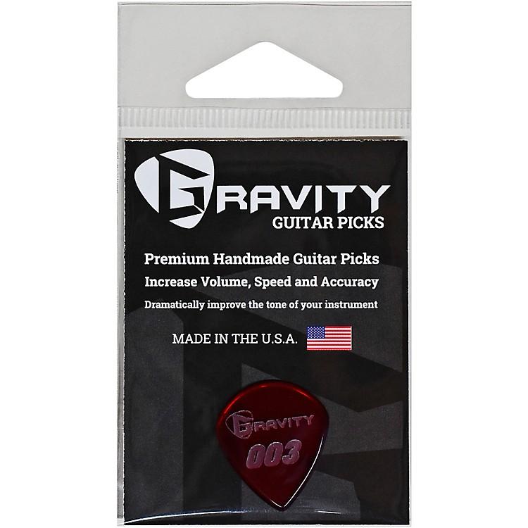 GRAVITY PICKS003 J3 Polished Red Guitar Picks1.5 mm