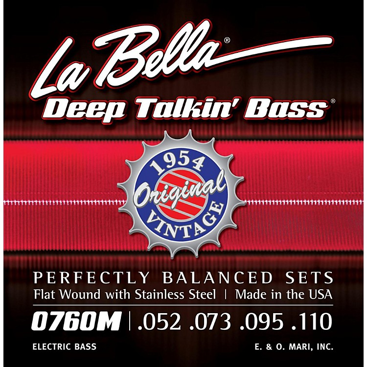 LaBella0760M Deep Talkin' Bass 1954 Original Flat Wound Electric Bass Strings