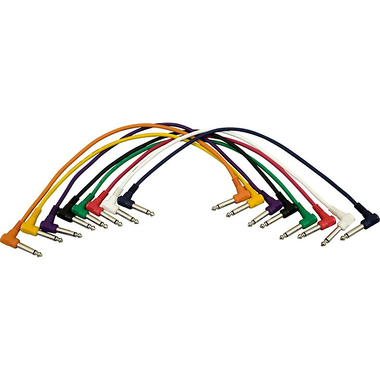 Musician's Gear1/4 - 1/4 Patch Cable 8-Pack (17