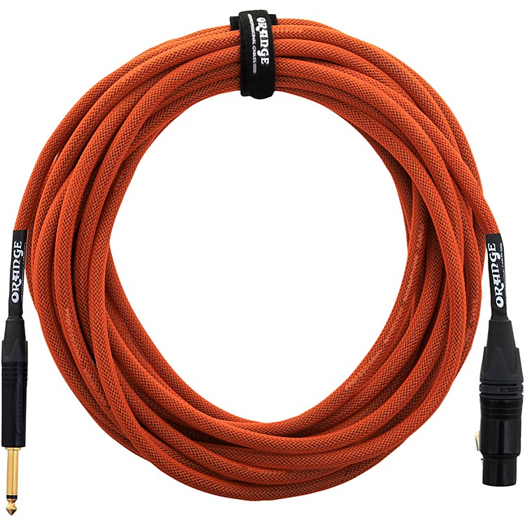 Orange Amplifiers 1/4 Inch to XLR Microphone Cable Black 20 ft.