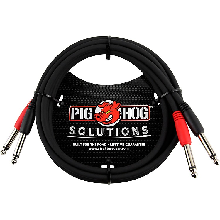 Pig Hog 1/4 in. - 1/4 in. Dual Cable 6 ft.