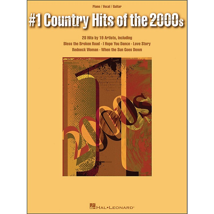 Hal Leonard#1 Country Hits Of The 2000s arranged for piano, vocal, and guitar (P/V/G)