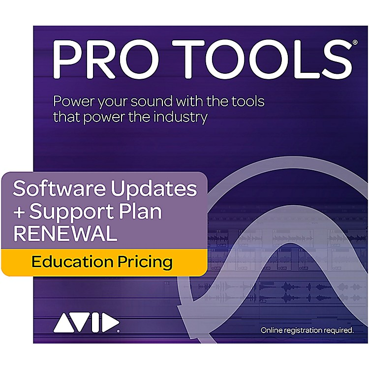 Avid1-Year Software Updates + Support RENEWAL for Pro Tools Teachers/College Student(Boxed)