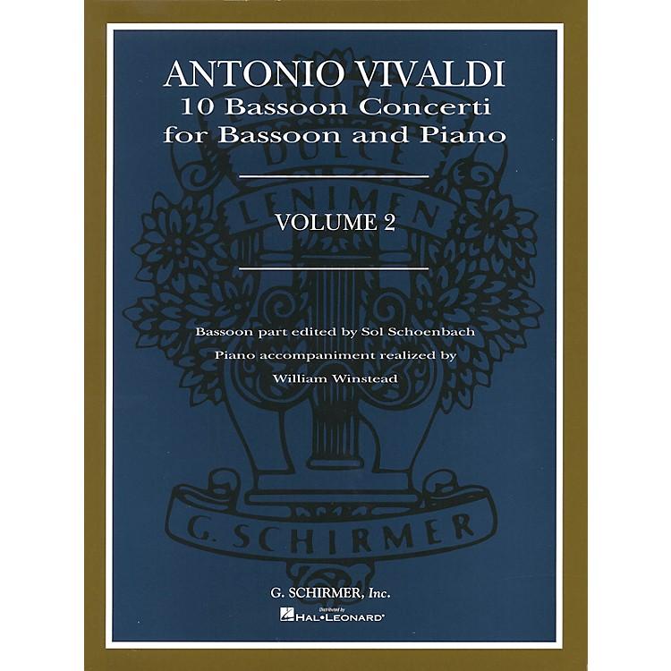 G. Schirmer10 Bassoon Concerti, Vol. 2 Woodwind Solo Series by Vivaldi Edited by Sol Schoenbach