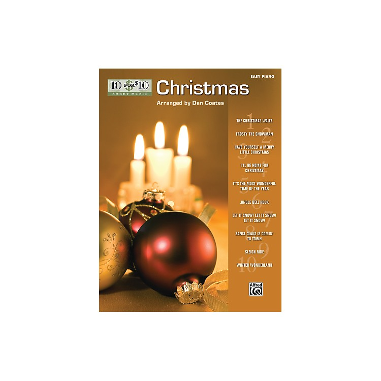 Alfred10 for 10 Sheet Music Christmas Easy Piano Book