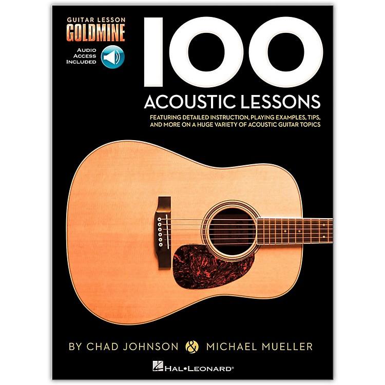 Hal Leonard100 Acoustic Lessons - Guitar Lesson Goldmine Series (Book/Online Audio)