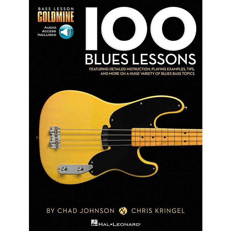 Hal Leonard100 Blues Lessons - Bass Lesson Goldmine Series Book/Online Audio