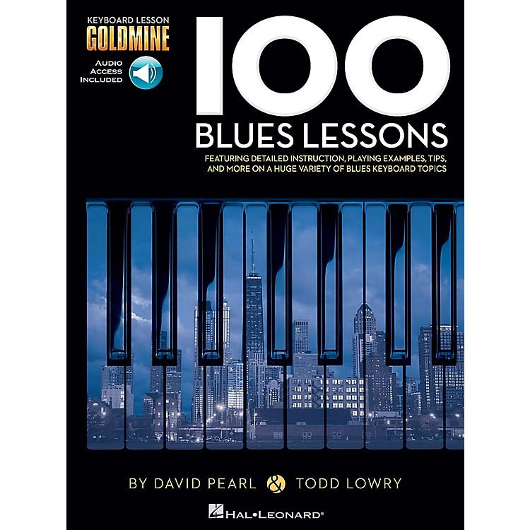 Hal Leonard100 Blues Lessons - Keyboard Lesson Goldmine Series Series Book/2-CD Pack