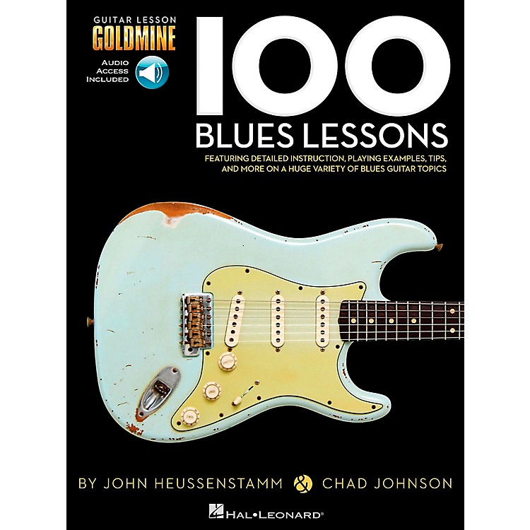 Hal Leonard100 Blues Lessons Guitar Lesson Goldmine Series Softcover with Online Audio