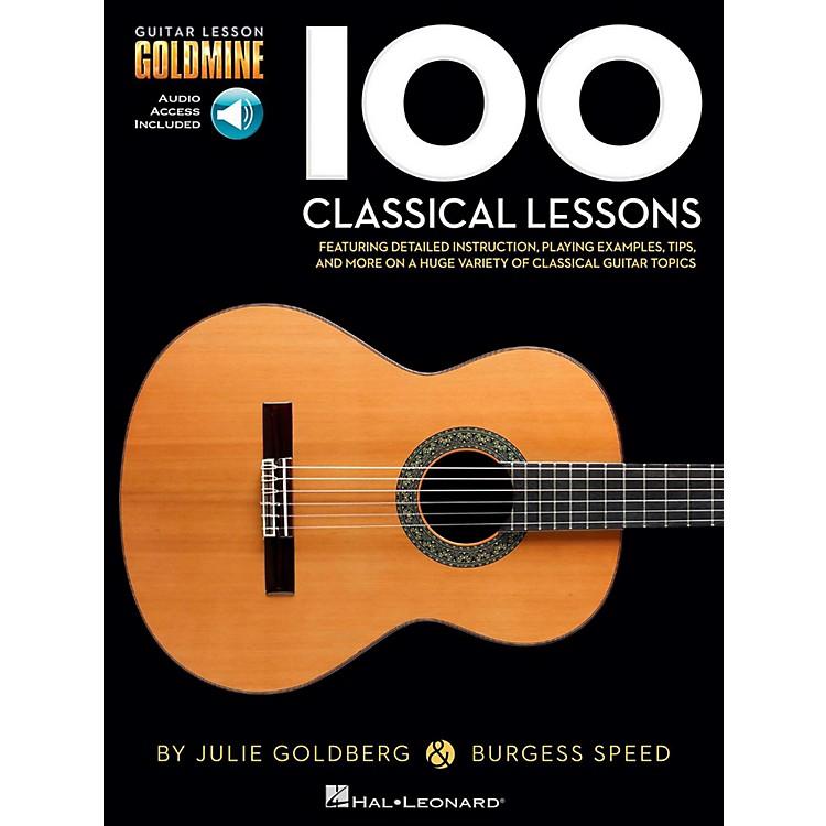 Hal Leonard100 Classical Lessons - Guitar Lesson Goldmine Series Book/Audio Online