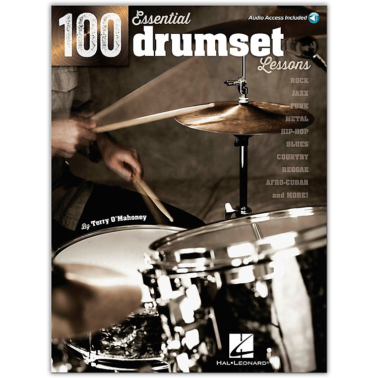 Hal Leonard100 Essential Drumset Lessons Book/CD