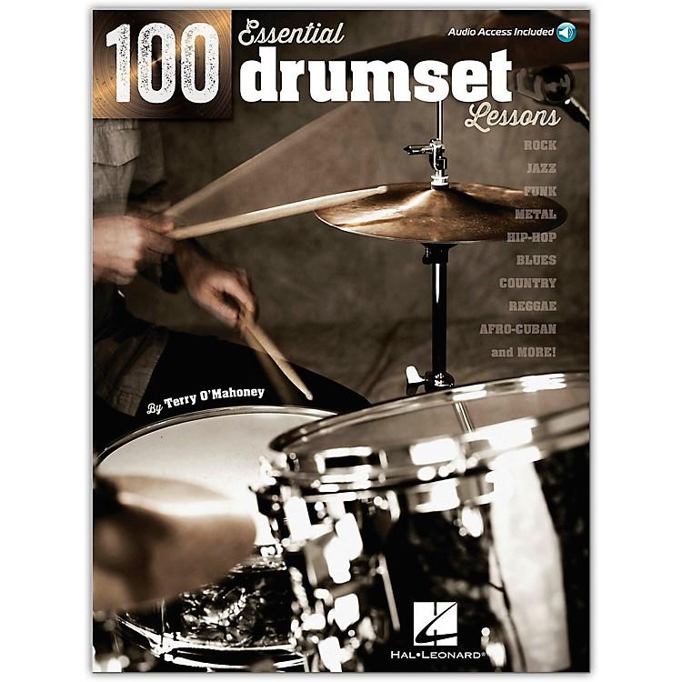 Hal Leonard100 Essential Drumset Lessons Book/Online Audio