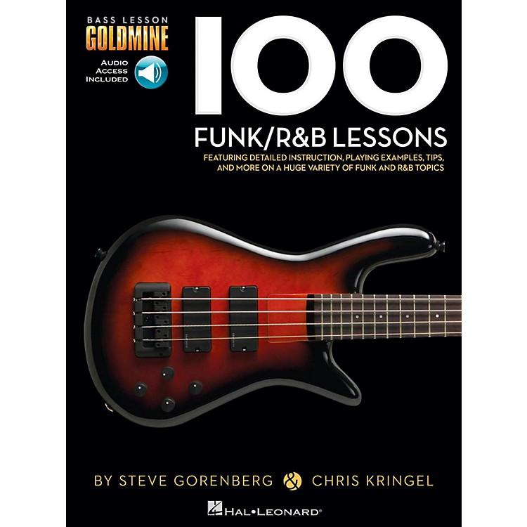 Hal Leonard100 Funk/R&B Lessons - Bass Lesson Goldmine Series Book/Online Audio