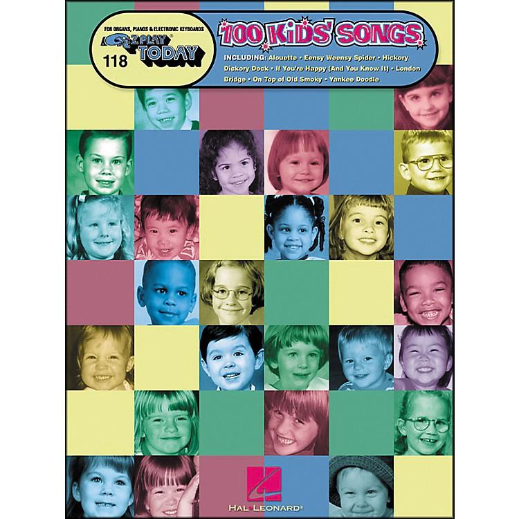 Hal Leonard100 Kids Songs E-Z Play 118