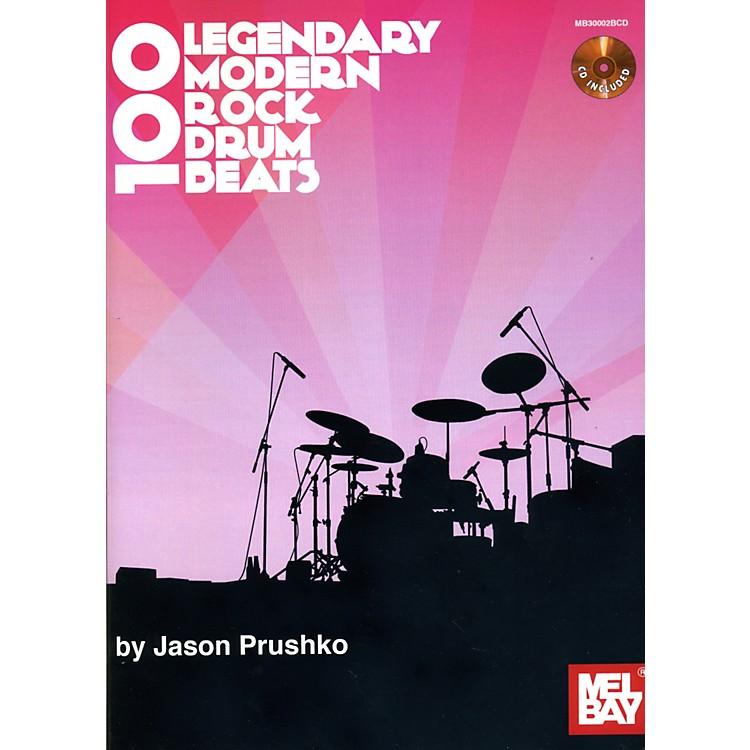 Mel Bay100 Legendary Modern Rock Drumbeats Book/CD Set