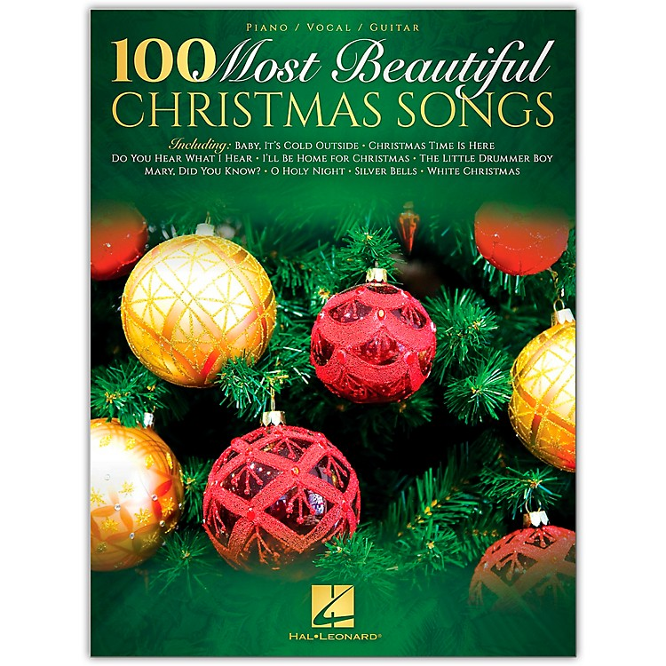 Hal Leonard100 Most Beautiful Christmas Songs Piano/Vocal/Guitar Songbook