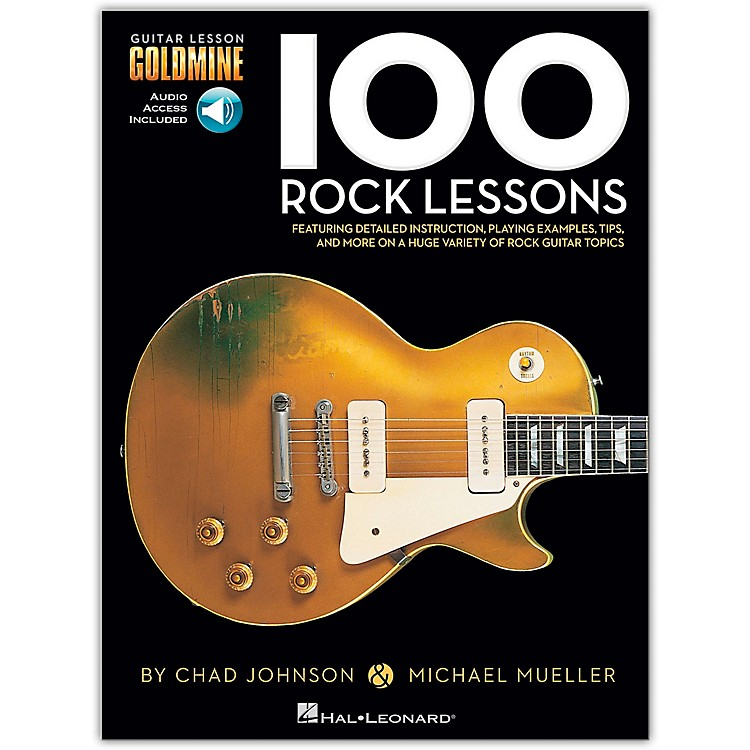 Hal Leonard100 Rock Lessons  Guitar Lesson Goldmine Series (Book/Online Audio)