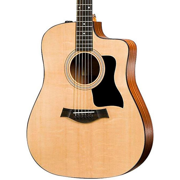 Taylor100 Series 110CE Dreadnought Acoustic-Electric GuitarNatural