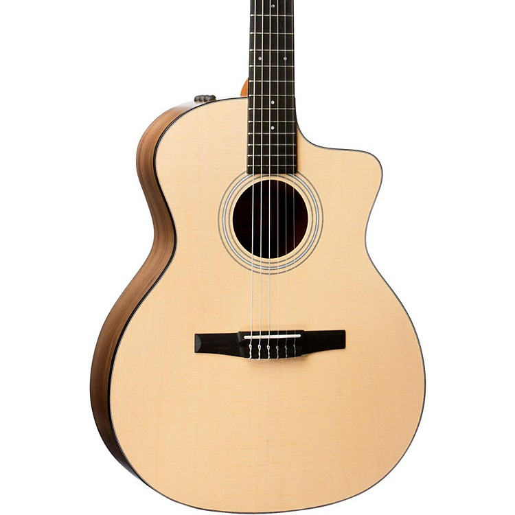 Taylor 100 Series 2017 114ce-N Grand Auditorium Nylon String Acoustic-Electric Guitar Natural