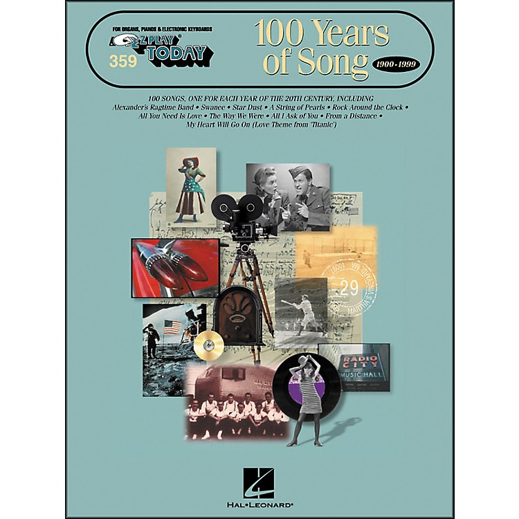 Hal Leonard 100 Years Of Song E-Z Play 359
