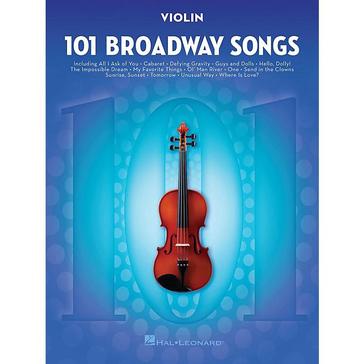 Hal Leonard101 Broadway Songs for Violin Instrumental Folio Series Softcover