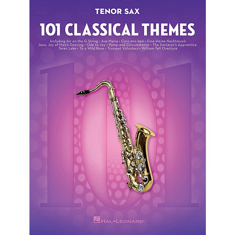 Hal Leonard 101 Classical Themes for Tenor Sax Instrumental Folio Series Book