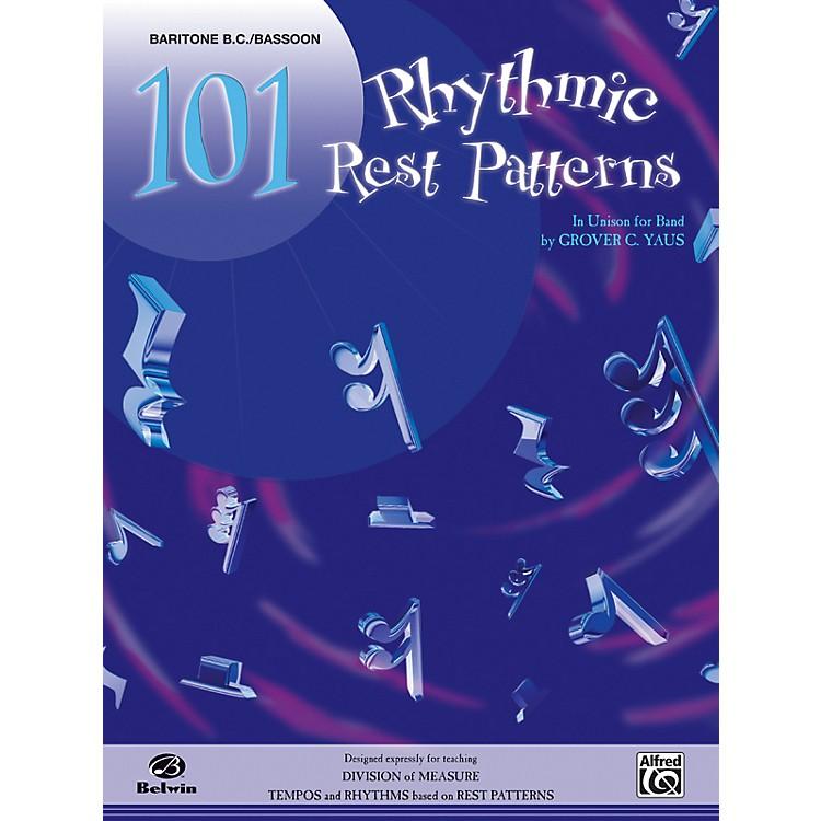 Alfred101 Rhythmic Rest Patterns Baritone B.C. & Bassoon