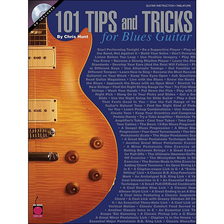 Cherry Lane 101 Tips & Tricks for Blues Guitar Book/CD