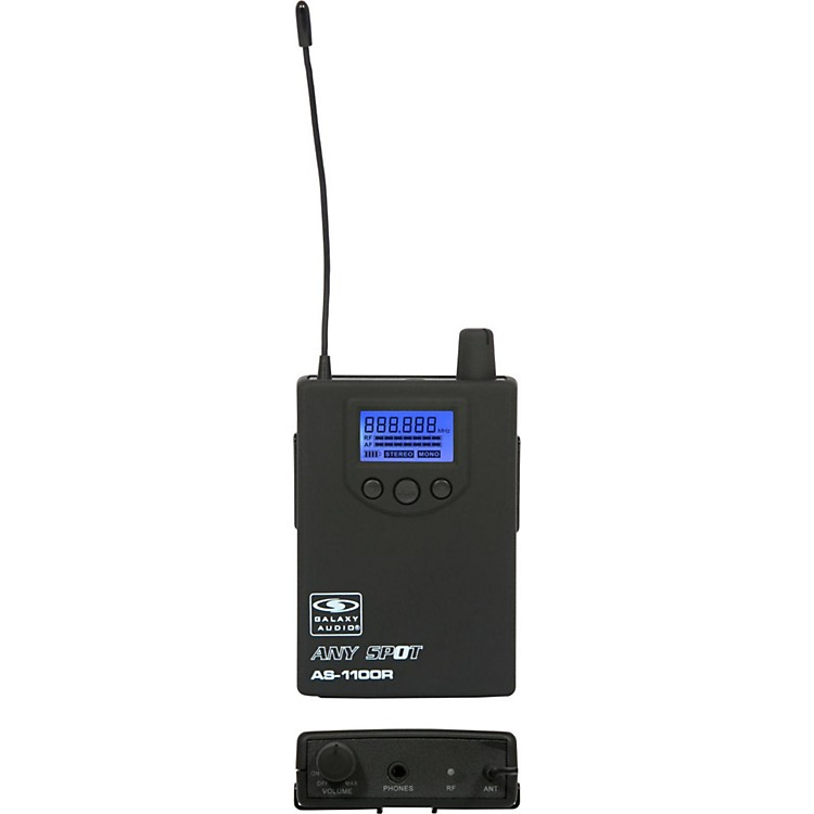 Galaxy Audio 1100 SERIES Wireless In-Ear Monitor Receiver Frequency with EB10 Earbuds Freq N