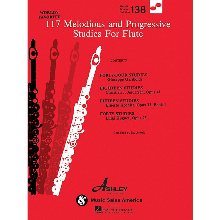 Ashley Publications Inc.117 Melodious and Progressive Studies for Flute World's Favorite (Ashley) Series