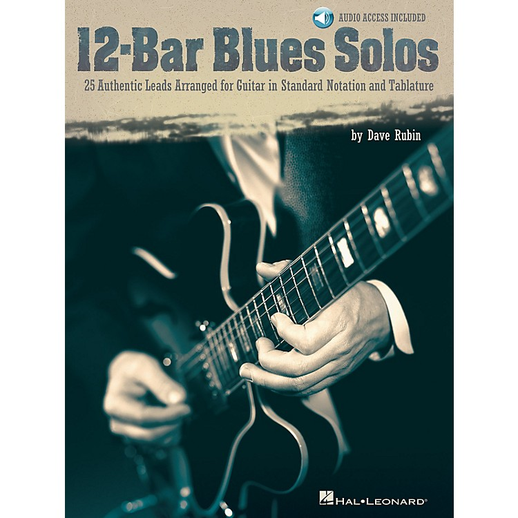 Hal Leonard12-Bar Blues Solos Guitar Collection Series Softcover with CD Written by Dave Rubin