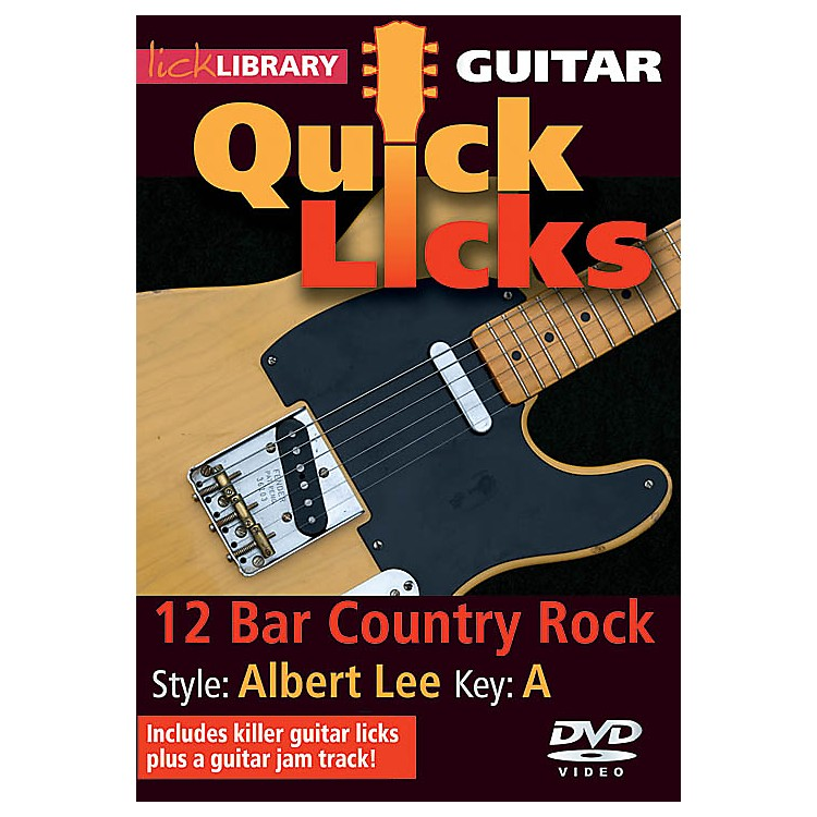 Licklibrary12-Bar Country Rock - Quick Licks (Style: Albert Lee; Key: A) Lick Library Series DVD by Steve Trovato