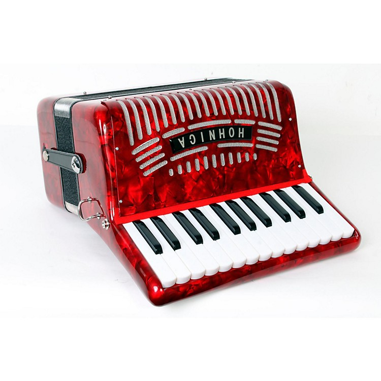 Hohner 12 Bass Entry Level Piano Accordion Red 888365807867